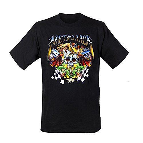 CID - Metallica - Checkered Flag Logo T-Shirt Schwarz