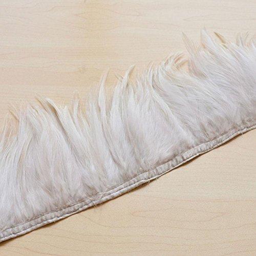 60Farben Choices Hackle Feather Trim für Mode Craft Fascinator Hat Dance Kostüm Kunst-Projekte 20 cm Stone - Stone Dance Kostüm