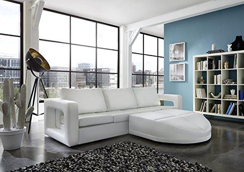 SAM® Sofa Garnitur weiß Doccia 270 x 200 cm rechts designed by Ricardo Paolo futuristisch Wohnzimmer Sofa Landschaft Federkernpolsterung pflegeleichte Oberfläche