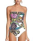 Bañadores Deportivas Mujer Bikinis Push Up Trajes de Baño Ropa de Baño Traje Impresión Floral de Monokini L