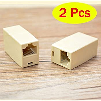 CLASSYTEK RJ45 8P8C Female to Female Network Lan Cable Coupler Adapter Connector - 2 Pack