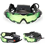 Adjustable Military Night Vision Goggles Glasses Security Eyeshield with Flip-out Lights