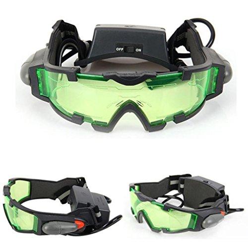 verstellbar Military Night Vision Brillen Brille Augenschutz Sicherheit mit ausklappbaren Lichter