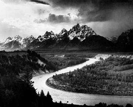 Ansel Adams - The Tetons - Snake River Grand Teton National Park Wyoming 1941 Kunstdruck (60,96 x 76,20 cm) -