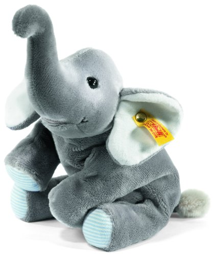 Steiff 281174 - Trampili Elefant  liegend, 22 cm, grau