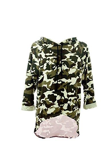 Moda Italy - Sweat-shirt - Femme Grün-Weiß-Mehrfarbig