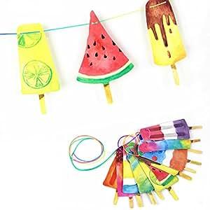 Eis Girlande Sommer Party Dekoration Kinderzimmer Deko von SUNBEAUTY