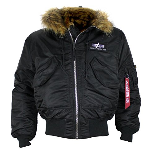 ALPHA INDUSTRIES Jacke 45P Hooded Costum black reflective