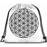 jenny-shop Blume Leben Kreise Gesundheitswesen medizinische Drawstring Rucksack Gym Sack Lightweight Bag