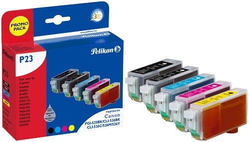 Preisvergleich Produktbild Pelikan Druckpatronen PromoPack P23 ersetzt Canon PGI-525PGBK/CLI-526BK/CLI-526C/CLI-526M/CLI-526Y, BK PIG/BK/C/M/Y