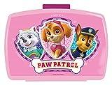 POS 29226088 - Brotdose Promo mit Einsatz im beliebten Paw Patrol Design, ca. 17 x 13,5 x 5, 5 cm, aus Kunststoff, bpa- und phthalatfrei, ideal für das Pausenbrot, für Jungen und Mädchen