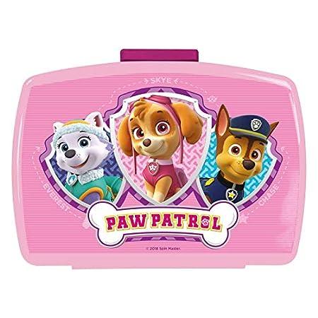 POS 29226088 – Brotdose Promo mit Einsatz im beliebten Paw Patrol Design, ca. 17 x 13,5 x 5, 5 cm, aus Kunststoff, bpa…