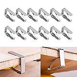 The Best Kingdom Groupcow 12 Stück Edelstahl Tischtuchklammern Tischdeckenklammer Tischtuschhalter Set Edelstahl zum Klammer Befestigen der Tischdecke DE