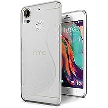 Funda HTC Desire 10 Pro, SLEO Slim Fit TPU Carcasa de Parachoques Case Traslúcido de Caucho Suave Bumper con Absorción de Impactos y Anti-Arañazos para HTC Desire 10 Pro(Claro)