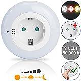 I Glow LED Nachtlicht ✔ 3 Farben ✔ 9 LEDs ✔ Dämmerungssensor ✔ Kindersicherung ✔ Steckdosenlicht Orientierungslicht