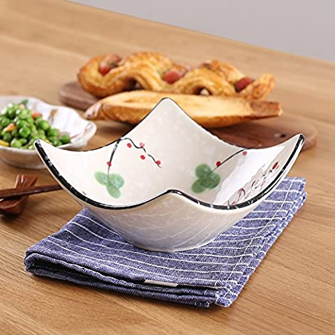 Yifom Creative 5 pollici di angoli di frutta in ceramica di bocce insalatiera