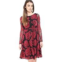 AHR_Manchester_LTD -  Vestito  - linea ad a - Maniche lunghe  - Donna Rose Floral 46