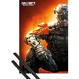 Póster + Soporte: Call Of Duty Póster (91x61 cm) Black Ops 3, III Y 1 Lote De 2 Varillas Negras 1art1®