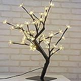 45cm LED baum lichter Lichterbaum mit 48 Blüten von Kirschbaum Lichter, Weihnachtsbeleuchtung, geeignet für Innendekoration, Schreibtisch, Bett, warmweiß