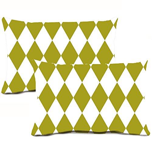 2er Pack Harlequin Diamant Kissenbezüge Baumwolle, quadratisch, Kissen Classic Kopfkissen für Sofa Couch Home Decor 45,7x 45,7cm, baumwolle, Mc_diamond_1, 12*20 Inch - Home Kissen Classics