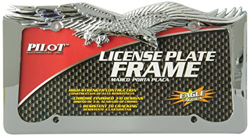 Bully WL108-C Eagle License Plate Frame - Chrome by Bully