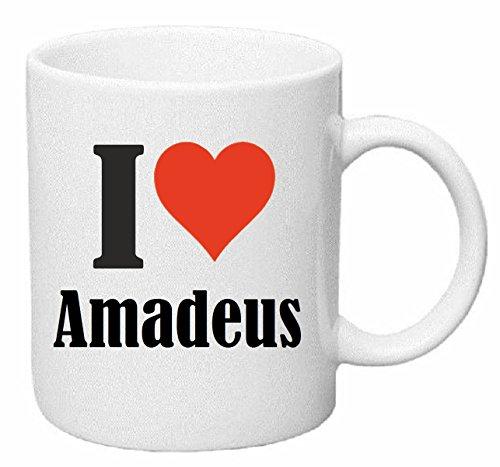 Reifen-Markt Tasse de Café Tasse à Thé ... Coffee Mug I Love Amadeus Hauteur 9 cm de Diamètre 8 cm Volume 330 ML Le pour Leur Partenaire - Collègue - Amis