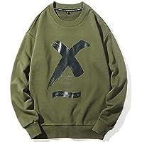 Men 's Sweater, otoño Invierno Holgado Traje de los Hombres, Chao Abrigo de Hombre,Verde Militar,XL