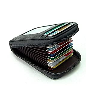 Vinallo New Fashion Men's/Women's Mini Leather Credit Card Case Holder Security Travel Wallet