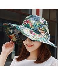 ERLINGSAN-MZ Sombrero de Verano de Verano Gorra de Sombrero de algodón  Delgado Gorro Plegable Plano-Coronado Sombrero de la Gorra de… 52512977fce
