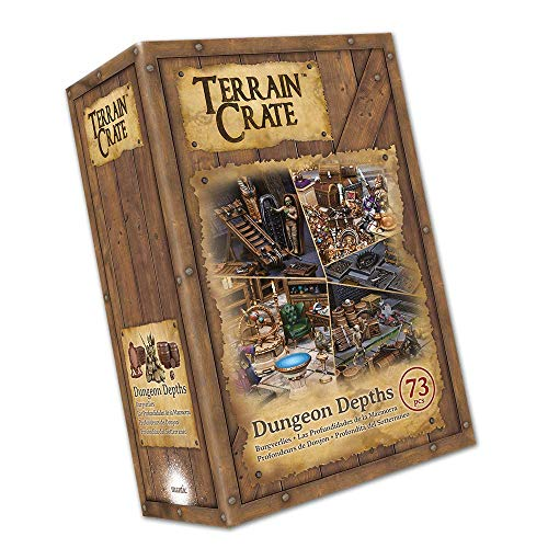 Mantic Games MGTC104 TerrainCrate: Dungeon Depths, Mehrfarbig Crate Barrel
