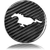 TOOGOO Kugel Dreh Knopf Adapter Kit Universal Auto Shift Hebel Stange Runde Sph?rische Kohle Faser Schwarz