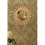 Dipamkar® Gold Ornate francés Vintage estilo metal marco espejo de pared decorativo pared arte, metal, dorado, 54 x57