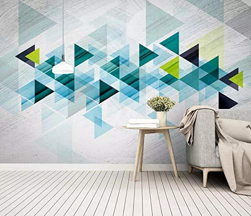 Fototapete 3D Einfache Kreative Dreieck Geometrie Platte Hintergrund Wandtapete Benutzerdefinierte Wohnzimmer Lobby Studio Wandbild,270Cm (H) X 350Cm (W) (Hintergrund Streng)