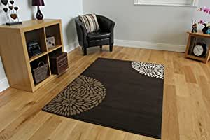 EXTRA LARGE CONTEMPORARY CHOCOLATE BROWN BEIGE IVORY RUG SHIRAZ