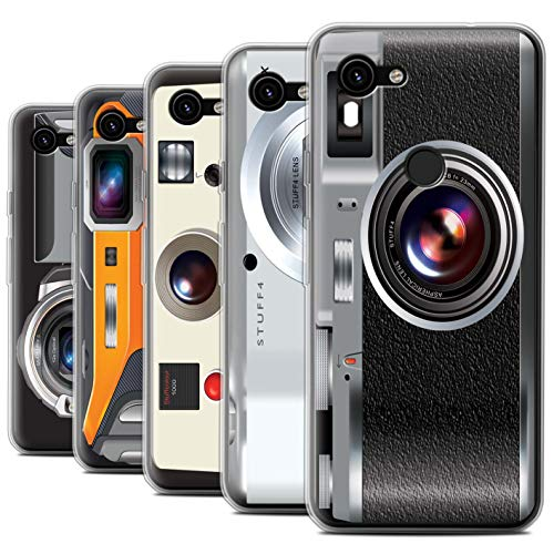 Gel Case Pack (eSwish Gel TPU Hülle/Case für Google Pixel 3a XL/Pack 5pcs / Kamera Kollektion)