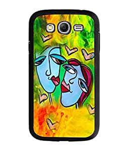 Fuson Coulorful Love Couple Back Case Cover for SAMSUNG GALAXY GRAND - D4009