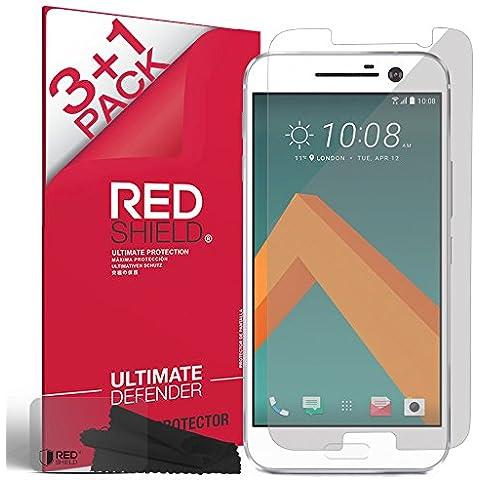 [3+1 PAQUETE] Protector de pantalla de HTC 10, REDShield® [Claro] HD Ultra Thin Rasguño resistente, Sin burbujas digital protector de pantalla protector de la película para HTC