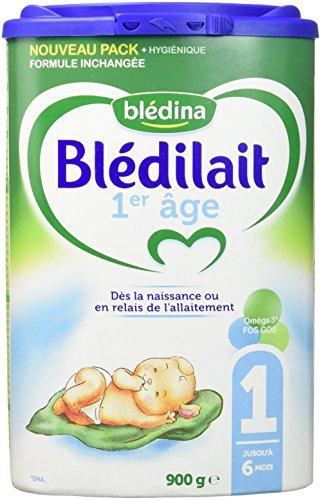 Blédina Blédilait - Lait bébé 1er âge en poudre de 0 à 6 mois 900 g