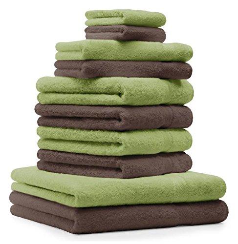 Betz. Set di 10 asciugamani di spugna 2 asciugamani da