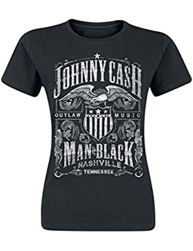 Johnny Cash Outlaw Music Maglia donna nero