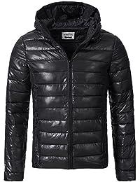Sublevel Herren Steppjacke Winter Jacke mit Kapuze 44351A S M L XL