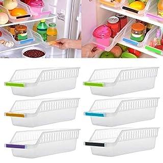 amiubo Refrigerator Food Beverage Hollow Drawer Storage Box Storage & Home Organisation