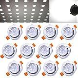 Hengda 12 pcs 5W Led Einbauleuchten set Kaltweiß Beleuchtung Einbauleuchte für den Wohnbereich auch für das Bad geeignet IP44