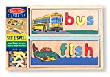 Melissa & Doug 12940 - Mira y Deletrea, juego de aprendizaje de palabras