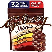 Galaxy Minis Assorted Chocolate Mini Bars, Pouch, 400g (32 pcs)
