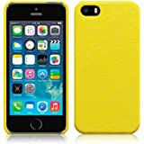Yellow iPhone 5/5S/SE PU Leather Back Cover / Skin / Shell / Case