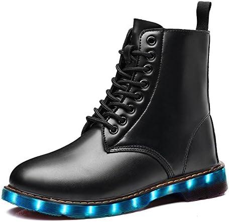LeKuni Zapatillas con Luces Zapatos LED Unisex Zapatos de Caña Alta con Luces, Botas Militares