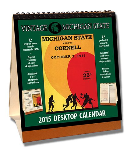 Michigan State Spartans 2015 Easel Desktop Vintage Football Calendar - Desktop-kalender-easel