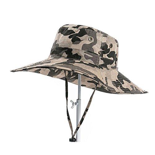 CJC Sombrero de pescador Sombrero de Sol Militar Sombrero Amplio Borde Caza Cangilón Hombres Mujer Al Aire Libre Pescar Excursionismo Cámping Juegos de Guerra ETC