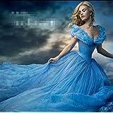 LAVINI COSPLAY-Disney Cinderella Cenicienta vestido de la princesa del tutú de la falda del vestido sacó edición adulto grande